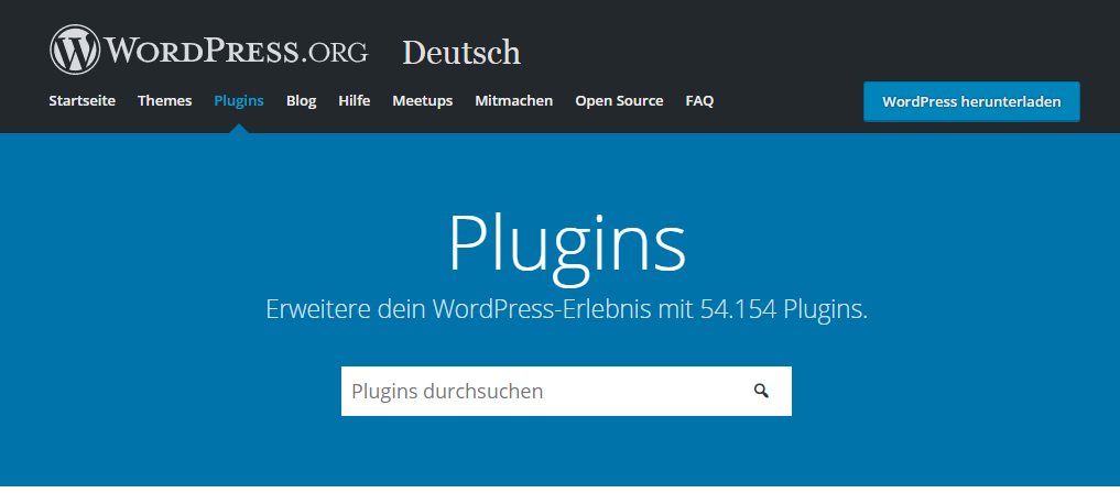 Wordpress Plugins Extension Erweiterung