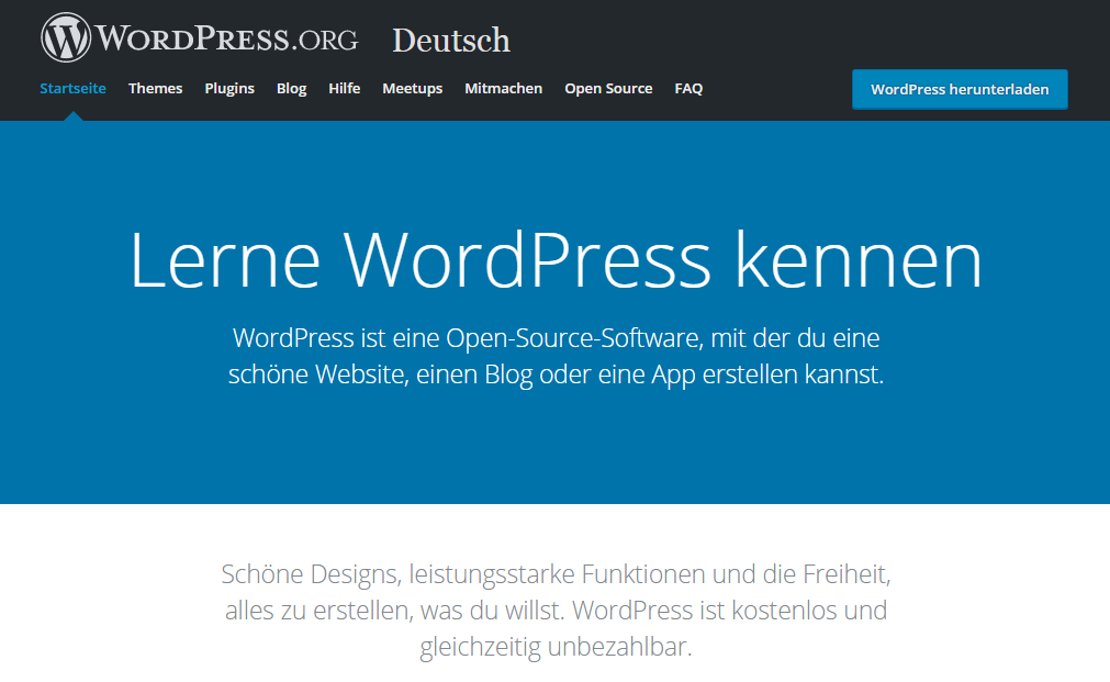Wordpress CMS runterladen