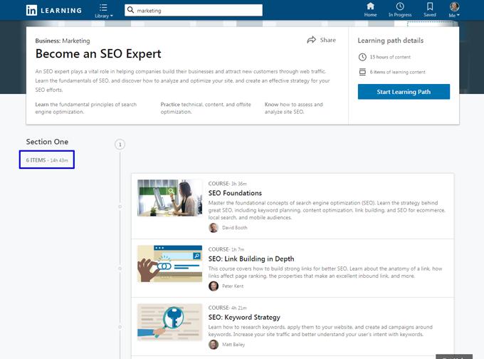 LinkedIn Learning Lehrgang