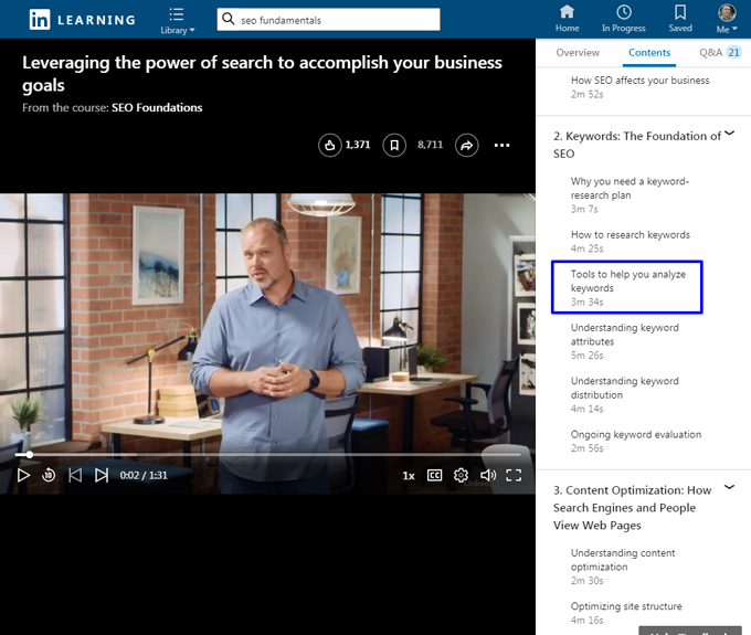 LinkedIn Learning Online-Kurse